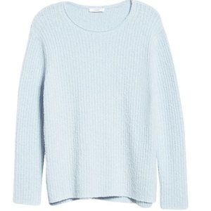 Vince Textured Ribbed Sweater Light Blue XXS NWT
